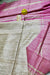 Silk Mark Certified Pure Handloom Tussar Ghicha Silk Saree In Pink And Cream Color