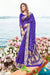 Designer Bandhej Silk Saree in Purple
