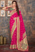 Banarasi Silk Designer Magenta Pink and Golden Saree