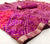 Designer Chiffon Bandhej Purple Pink With Gotta Patti Saree