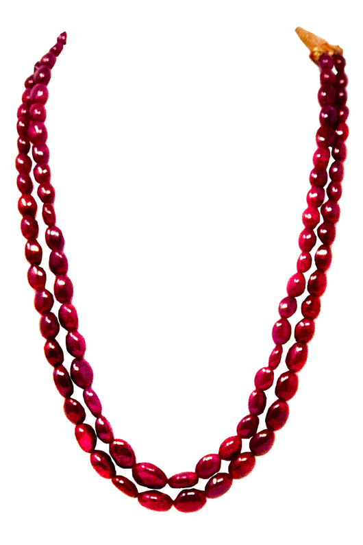 Ruby Gemstone Necklace (Design 4)