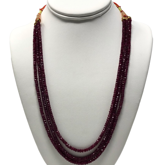 Small Ruby Gemstone Necklace (Design 5)