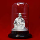 999 Pure Silver Small Sai Baba Idol in Circular Base