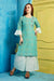Cotton Kurti with Sharara and matching Mask (D46)