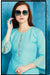 Cotton Kurti with Sharara and matching Mask (D45)
