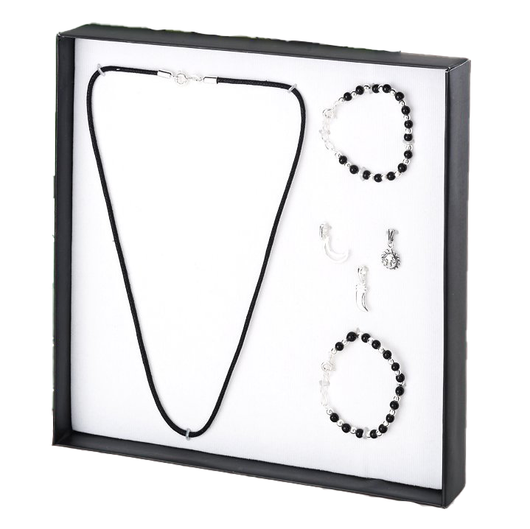 925 Nazariya Gift Set made with Sterling Silver, Black Threads and Beads
