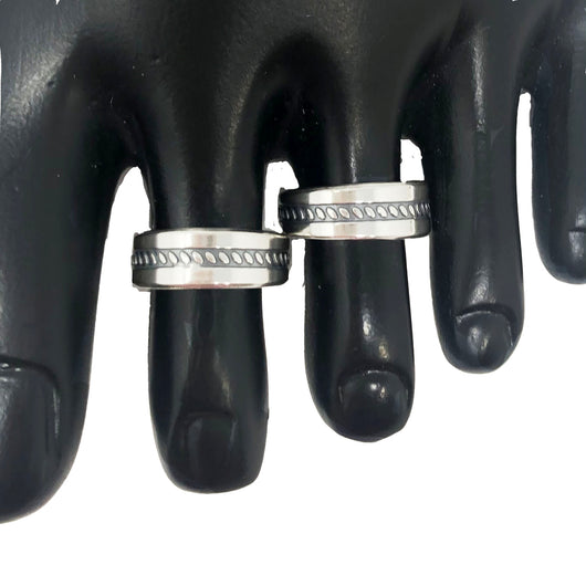 925 Silver Adjustable Toe Rings Pair (Design 49)