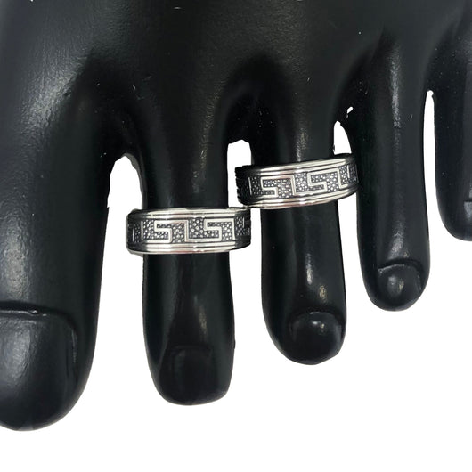 925 Silver Adjustable Toe Rings Pair (Design 51)