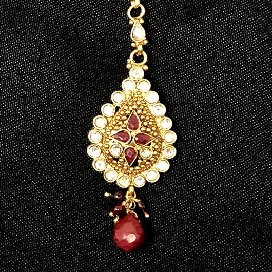 Teardrop Handcrafted Red Tika