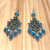 Vintage Geometric Blue Earrings