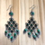 Vintage Geometric Green Earrings