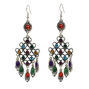 Vintage Geometric Multicolor Earrings