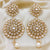 Golden, Bejeweled, Circular Dangle Earrings