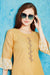 Cotton Kurti with Sharara and matching Mask (D40)