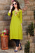 Cotton Kurti with Pant and Matching Mask (D68)