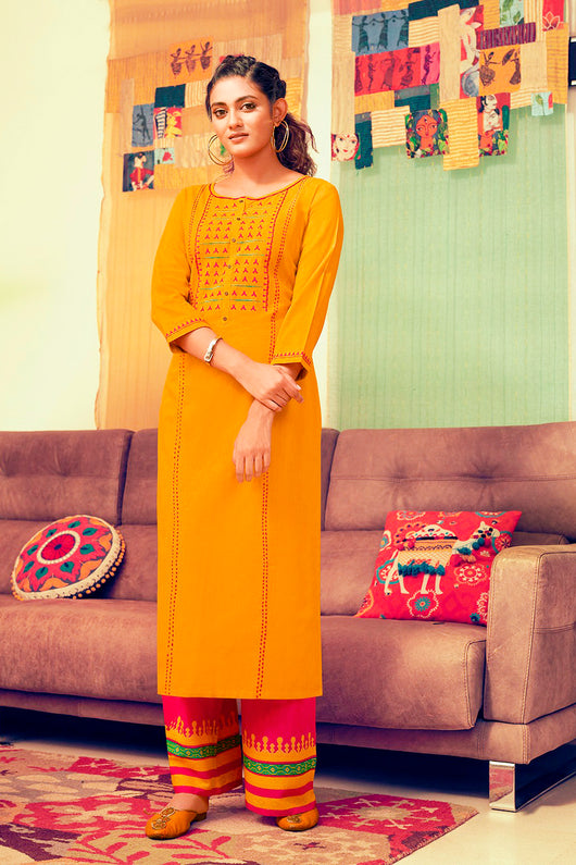 Cotton Kurti with Plazzo(D94)
