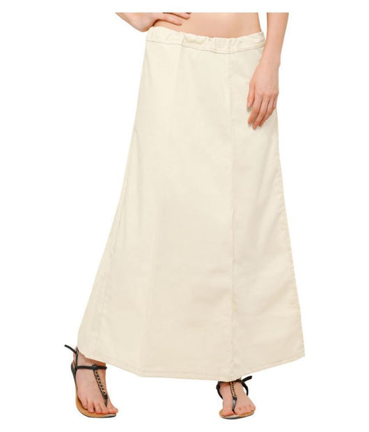 Free Size Readymade Petticoats in Cream Color (Cotton)