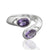 925 Sterling Silver Amethyst Gemstone Ring (D8)