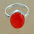 925 Sterling Silver Carnelian Gemstone Ring (D20)