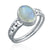 925 Sterling Silver Rainbow Moonstone Gemstone Ring (D42)