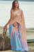 Soft Silk Latte Brown and Sky Blue Saree