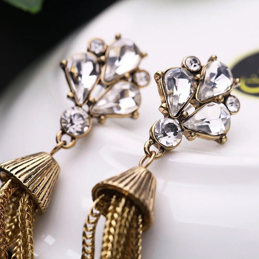 Long Chain Tassel Earrings