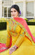 Traditional Designer Gown with Dupatta In Modern Style (Yellow) (K49)