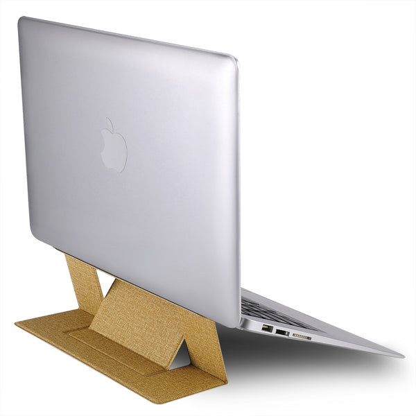 Gold/yellow portable laptop stand