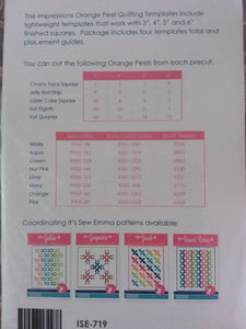 Orange peel quilting template set by It's sew emma.