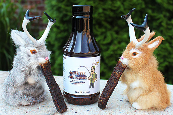 Jerkalopes the official spokes animals of Jerk It! Jerky Marinade