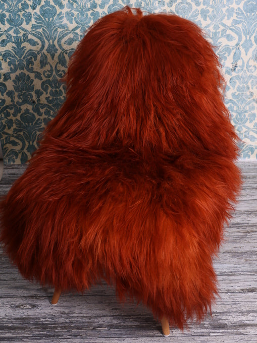 Icelandic Sheepskin Rug Copper