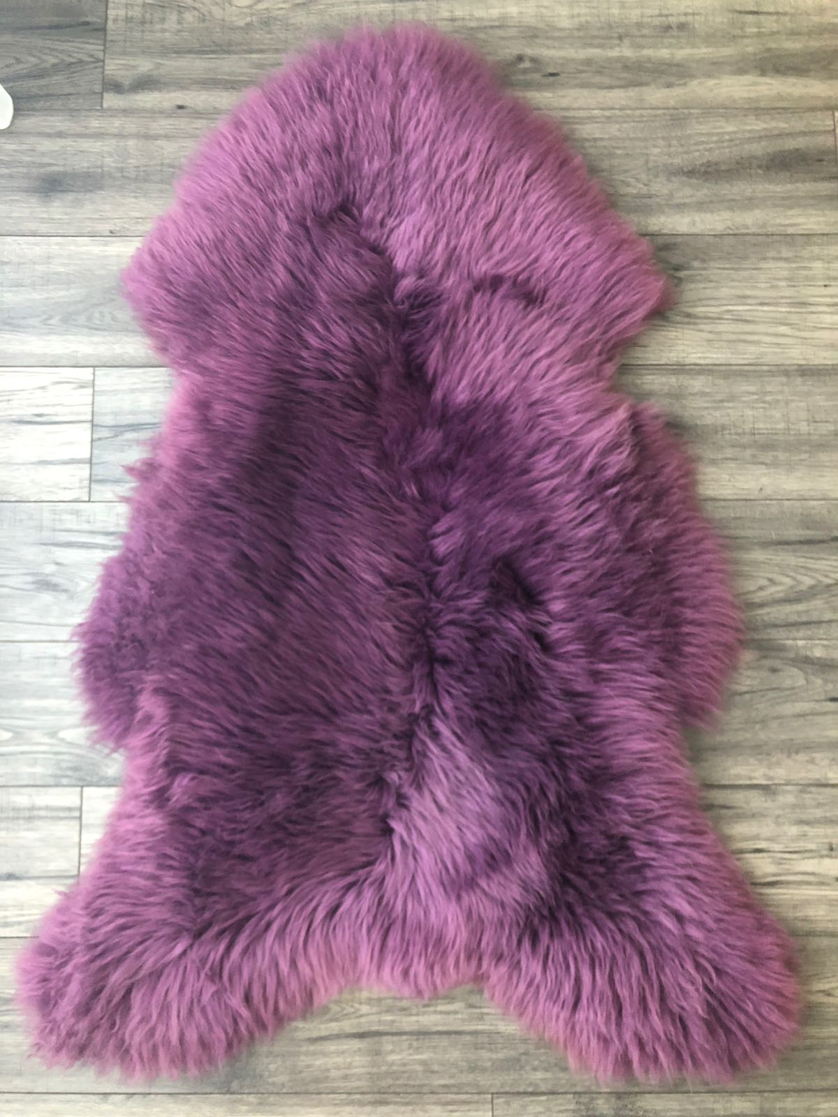 Sheepskin Rug Dark Purple