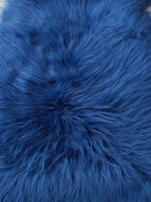 Sheepskin Rug Royal Blue