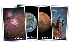 "Space Scenes posters, set of eight 12 x 18"" color posters"