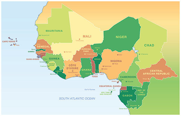 Map of West-Central Africa (22\