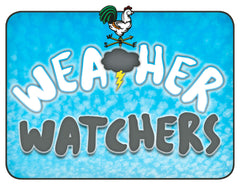 Door Sign in Color: Weather Watchers