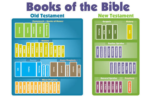 "Books of the Bible Chart (11"" x 17"" in color)"