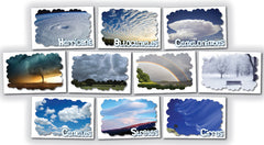 "Weather Posters: Set of ten 12"" x 18"" color posters"