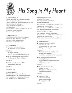 Songsheet: His Song in My Heart