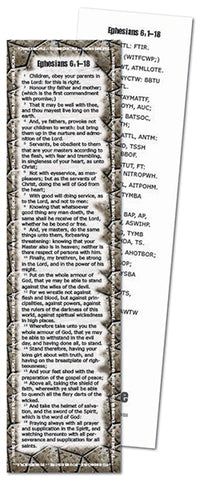 Project: Memory Bookmark (Ephesians 6:1-18)
