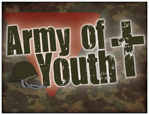 Door Sign in Color: Army of Youth