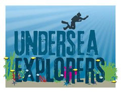Door Sign in Color: Undersea Explorers