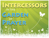 Door Sign in Color: Intercessors in the Garden of Prayer