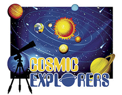 Door Sign in Color: Cosmic Explorers