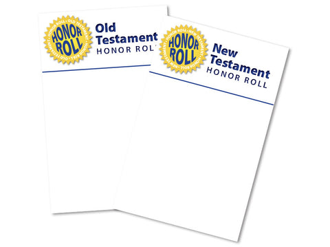 Honor Rolls in color: Old and New Testaments