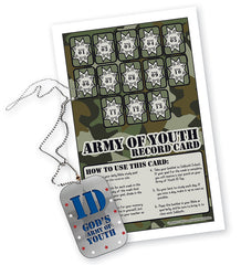 Incentive device: Army of Youth ID Tags