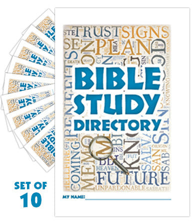 Bible Study Directory Booklet (Set of 10)