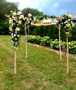 Birch Chuppah Assembled II