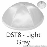 DST8 - Light Grey Kippah Bulk Kippot Deluxe Satin