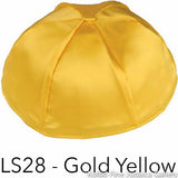 LS28 - Gold Yellow Kippah Bulk Kippot Lined Satin
